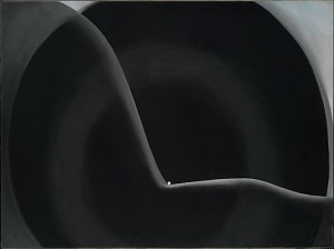 Black Abstraction. (Metropolitan Museum of Art/Georgia O'Keeffe)