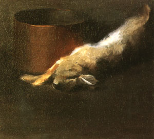 Untitled (Dead Rabbit with Copper Pot). (Art Students League of New York/Georgia O'Keeffe)