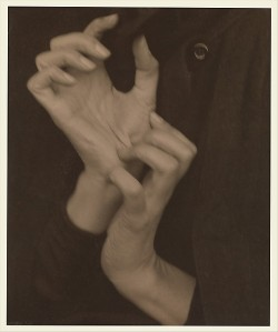 Georgia O'Keeffe — Hands. This was the photo I had in mind when writing toward this poem's final image. (Metropolitan Museum of Art/Alfred Stiegltiz)