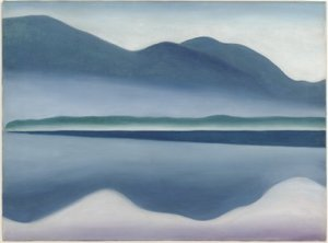 Lake George [formerly Reflection Seascape]. (San Francisco Museum of Modern Art/Georgia O'Keeffe)