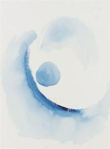 Like an Early Blue Abstraction. (Anonymous Collection/Georgia O'Keeffe)