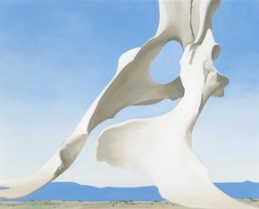 Pelvis with Distance. (Indianapolis Museum of Art/Georgia O'Keeffe)