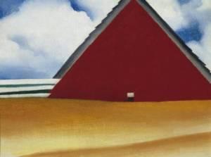 Red Barn in Wheatfield. (O'Keeffe Museum,/Georgia  O'Keeffe)
